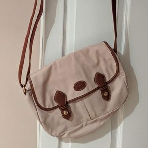 Vintage LONGCHAMP messenger bag in sand